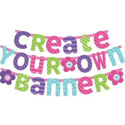 Pink & Teal Personalisable Letter Banner Kit