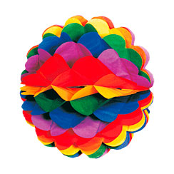 Rainbow Honeycomb Decoration - 28cm
