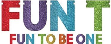 Fun To Be One Rainbow Glitter 1st Birthday Banner - 3.6m