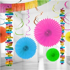 Multi Coloured Paper & Foil Room Decorating Kit