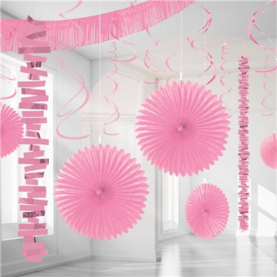 New Pink Paper & Foil Room Decorating Kit
