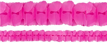 New Pink Paper Garland Decoration - 3.7m