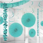 Turquoise Paper & Foil Room Decorating Kit