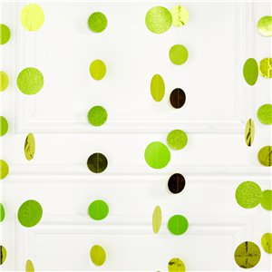 Lime Green Glitter Hanging String Decorations - 2.1m