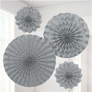 Blue & White Paper Fan Decorating Kit
