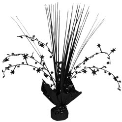 Black Foil Spray Table Centrepiece - 30cm