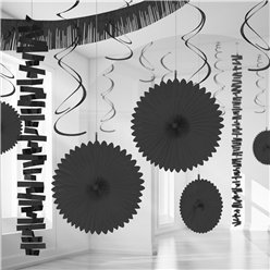Black Paper & Foil Room Decorating Kit