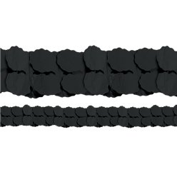 Black Paper Garland Decoration - 3.7m
