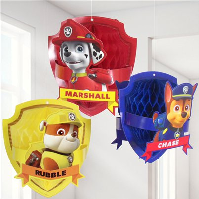 Paw Patrol Honeycomb Hanging Decorations