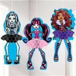 Monster High Honeycomb Hanging Decorations