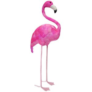 Pink Feathered Flamingo Room Prop Decoration - 51cm
