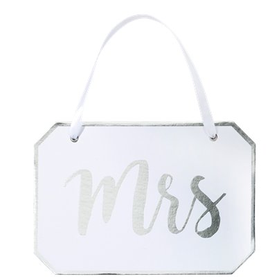 Mrs White Wooden Sign Hanging Decoration - 22cm