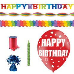 Rainbow Happy Birthday Decorating Kit
