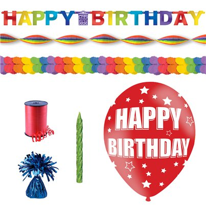 Rainbow Lockdown Birthday Decorating Kit