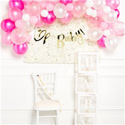 Deluxe Pink Baby Shower Decorating Kit