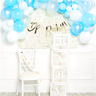 Deluxe Blue Baby Shower Decorating Kit