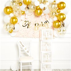 Deluxe Gold Baby Shower Decorating Kit