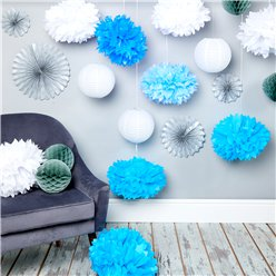 Blue & Silver Decorating Kit