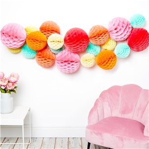 Pastel Honeycomb Decorating Kit