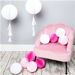 Pink & White Honeycomb Decorating Kit