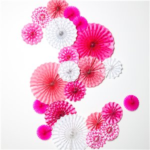 Pinks Paper Fan Decorating Kit
