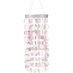 White Hanging Circle Chandelier
