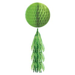 Green Honeycomb Ball with Tassel Tail - 71cm