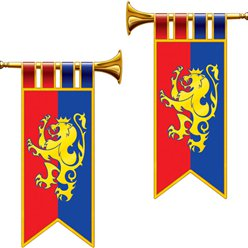 Herald Trumpet Cutout Flags - 43cm