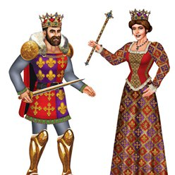 Jointed Royal King & Queen Cutout - 91cm