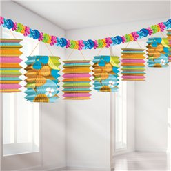 Paper Lantern Garland - 3.7m Hawaiian Decoration