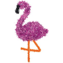 Flamingo Tinsel Decoration - 48cm