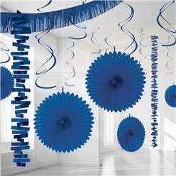 Royal Blue Paper & Foil Room Decorating Kit