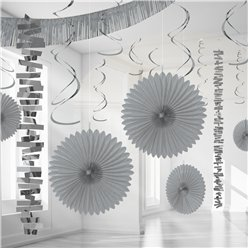 Silver Paper & Foil Room Decorating Kit