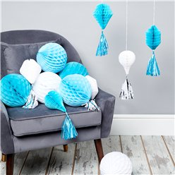 Blue & White Honeycomb Decorating Kit