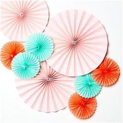Pastel Paper Fan Decorating Kit