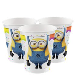 Minions Paper Cups -  250ml
