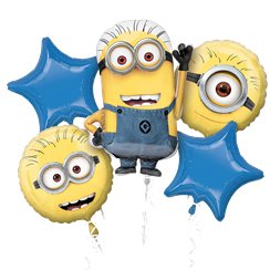 Minions Balloon Bouquet - Assorted Foil