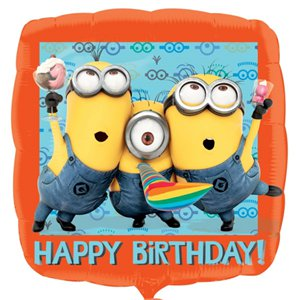 Minions Balloon - 18'' Square Foil
