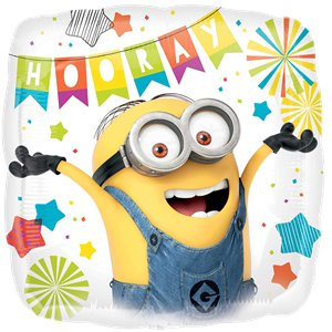 Minions Square Birthday Balloon - 18