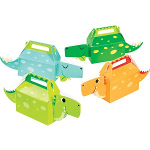 3D Dino Boy Party Boxes - 13 x 31cm