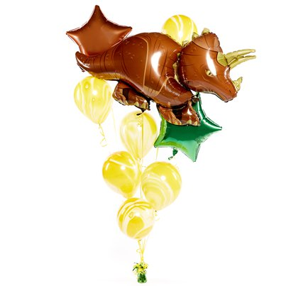 Triceratops Balloon Bouquet