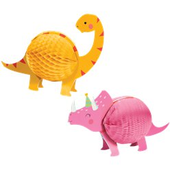 Honeycomb Centrepiece 2pk (Dinosaur Accessories)