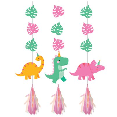 Honeycomb Centrepiece Dinosaurs Decoration Set