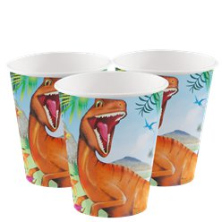 Dinosaur Adventure Paper Cups - 255ml