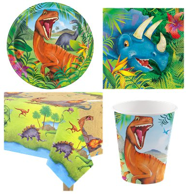 Dinosaur Adventure Party pack - Value Pack For 8