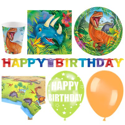 Dinosaur Adventure Party Pack - Deluxe Pack For 16