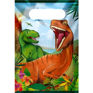 Dinosaur Adventure Party Bags - Plastic Loot Bags