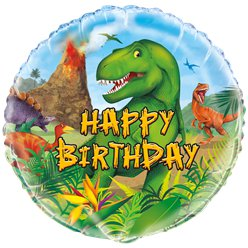 "Dinosaur Adventure Birthday Balloon - 18"" Foil"