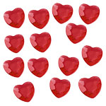 Red Hearts Table Diamantes