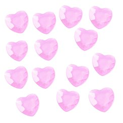 Pink Hearts Table Diamantes